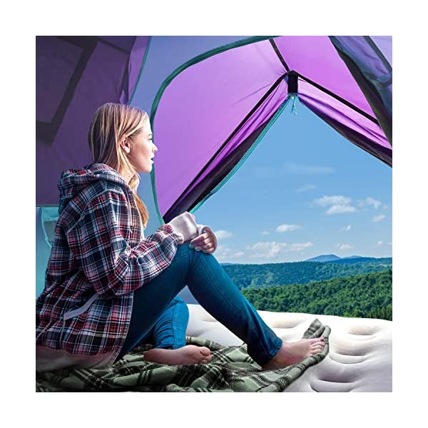 Sable Pop Up Beach Tent Purple, Sun Shelter 2 3 Man Tent for Kids Adults Windproof Waterproof and Quick Set-up, with Carry Bag for Outdoor Garden, Camping, Fishing, Picnic 5