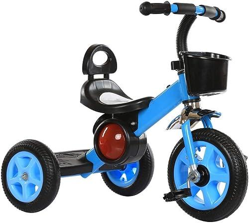 NBgy Dreirad, Fashion Cool Multi-Funktions-Dreirad Für Kinder Big Pedal Design, 3-6 Jahre Altes Baby-Dreirad Im Freien, 3 Farben, 58x72x40cm