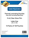 Royal Sovereign, 5 Mil, 1000-Count Thermal Laminating Pouches, Letter Size 9