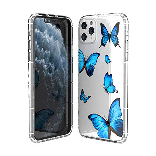 iPhone 11 Pro Max Case Clear Cute Butterfly Design Flexible Bumper TPU Soft Rubber Silicone Girl Women Cover, Protective Phone Cases for iPhone 11 Pro Max-Small Butterfly