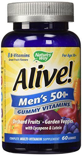 Nature's Way Alive Men's 50+ Gummy Vitamins Fruit Flavors 60 EA - Buy Packs and SAVE (Pack of 3)