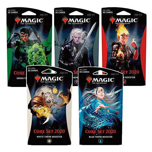 Magic The Gathering C63530000 - Core Set 2020 Themenbooster, 5-er Set