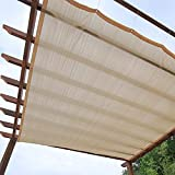 WWWANG PERGOLA BEIGE SHADE PANTH NET, 90% SUNBLOCK Tela de malla de vela con cuerda de 5 m y ojales, gazebo cubierta de toldos de protección solar, servicio pesado Protección solar, aislamiento térmic