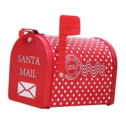 perfk Cassetta Delle Lettere/Cassetta Postale/Cassetta Delle Lettere in Metallo di Babbo Natale con Decorazioni...