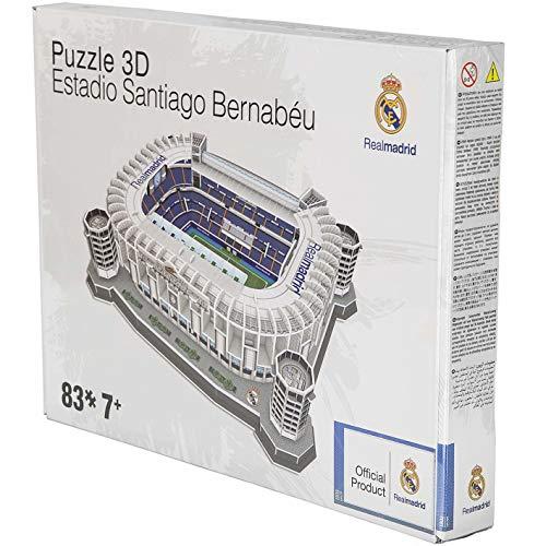 Brandunit Stadion Puzzle de diferentes equipos, Real Madrid - Santiago Bernabeu, talla única