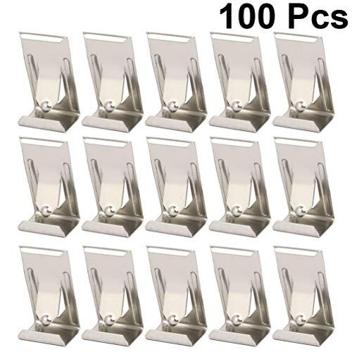 Cabilock 100 Stks Foto Fotolijst Metalen Lente Beurt Clip Hanger Foto Opknoping Haken Spiegel Canvas Haken Voor Thuiskantoor School Thuis (Zilver)