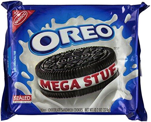 Oreo MEGA STUF Creme Sandwich Cookies 13.2 Oz. (2 Pack) by Nabisco