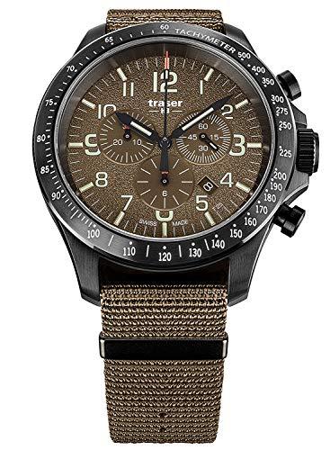 Reloj de pulsera para hombre Straser H3 P67 Officer Pro Chrono Caqui con correa Natoband 109459