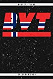 Bouvet Island. BVT. Calendar 2021: Weekly planner with monthly overview and yearly overview. Cool gift idea for Christmas, birthday or any other ... Weekly planner with dotted pages for notes