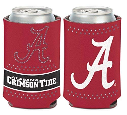 WinCraft NCAA Alabama Crimson Tide Bling/Script 1 Pack 12 oz. 2-Sided Can Cooler