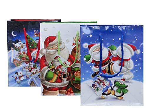 Papier Assorties 160g // m2 Paquet /Économique Bagland Sacs-Cadeaux,Bouteille /Étoile 13 12 Un 12cm x 36cm x 9cm