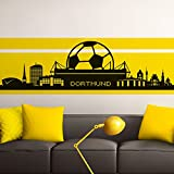 Grandora Wandtattoo Skyline Dortmund I schwarz (BxH) 165 x