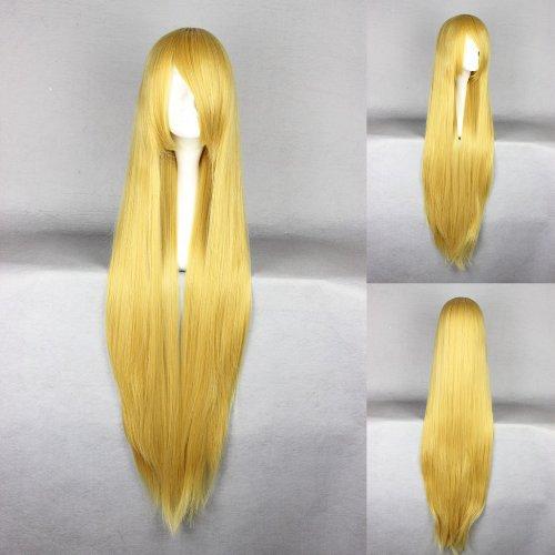 Ladieshair Cosplay Perücke goldblond 100cm glatt Touhou Project Yukari Yakumo