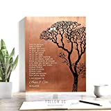 7th Anniversary, Personalized Gift, Corinthians, Love is Patient, Faux Copper, Bare Tree, 7 Year Anniversary Gift, Winter Wedding, Custom Art Print on Paper, Canvas or Metal #1296