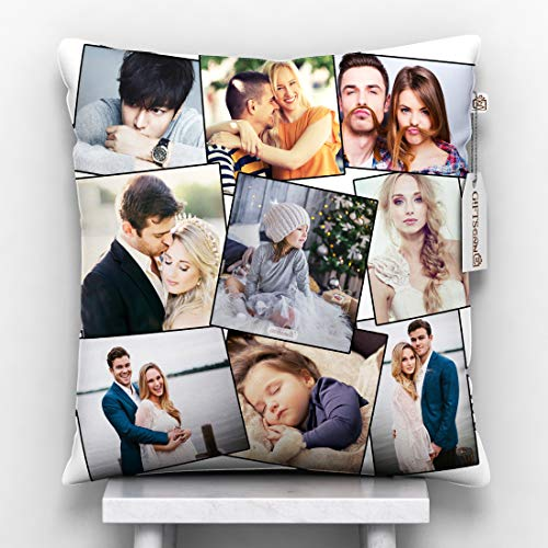 GiftsOnn Fiber Cushion , 12x12 inch, White, 1 Cushion Cover, 1 Filler, satin, 1 piece