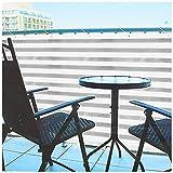 com-four® Pantalla de balcón Opaca - Correas de balcón con cordón para Sujetar - tambi...