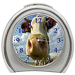 K&N Funny Cow Table Desk Alarm Clock Night Light h0084
