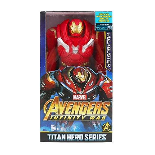 Lianlili 30cm Vengadores Final de Partida Thanos araña Hulk Iron Man Capitán América Thor Wolverine Venom Figura de acción Juguetes muñeca for el Cabrito (Color : Hulkbuster with Box)