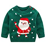 Bebé Niños Suéter Sudadera de Navidad Jersey de Invierno Camiseta Manga Larga 18-24 Meses
