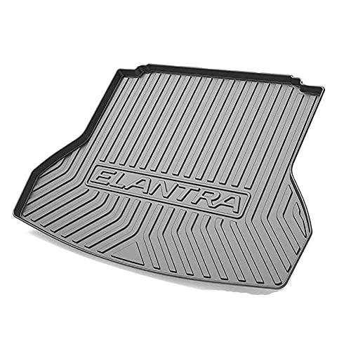 QKBJS Coche Alfombrillas Maletero, para Hyundai Elantra 2016 2017 2018 2019 2020 Bandeja Equipaje Almohadilla Antideslizante Barro A Medida Auto Interior Accessories Alfombra Piso