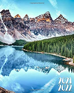 2021-2022: Two Year 24-Months Weekly Planner Agenda Calendar Organizer with Useful Features: Fantastic Moraine Lake Rocky ...
