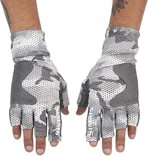 Simms SolarFlex Guide Handschuh (Hex Flo Camo Steel, X-Large)
