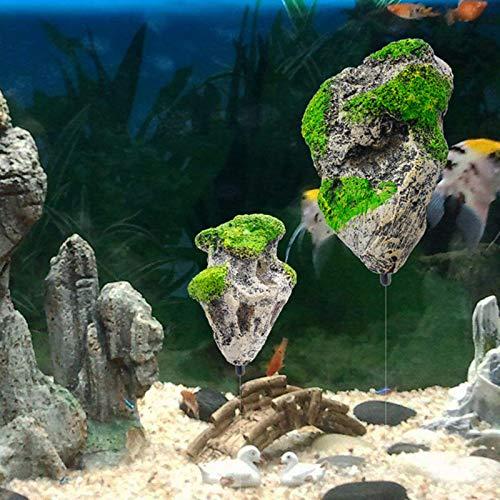 XATAKJJ Decoración de Acuario de Piedra Artificial suspendida de Roca Flotante decoración de pecera Piedra pómez Flotante Adorno de Roca voladora