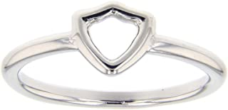 LDS Bookstore Silver Open Shield CTR Ring