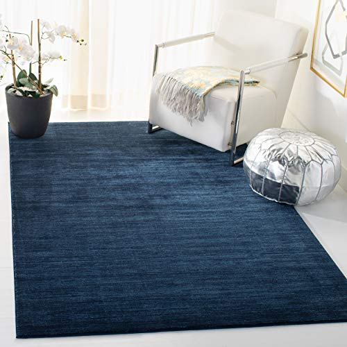 Safavieh Vision Collection VSN606N Modern Contemporary Ombre Tonal Chic Area Rug, 5' Square, Navy
