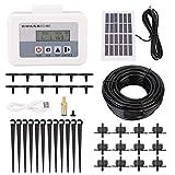 Famus Sistema Inteligente de riego por Goteo de Agua Solar Sistema de Temporizador automático de Planta de riego automático Carga USB(Solar Panel Set)