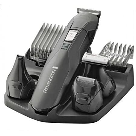 Remington Edge Recortadora de Barba y Cortapelos - Inalámbrico, Cuchillas de Acero Inoxidable, 4 Cabezales, 2 Peines, Negro - PG6030