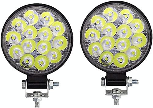 KONGWU Luz LED para el Coche Beacon Luz LED Luz Barra de luz Spot Beam Off Road Driving Car Spot Light Bar LED Work Light Bar Offroad Fog Lights 2pcs One Tamaño-2pcs_Un tamaño Amazing