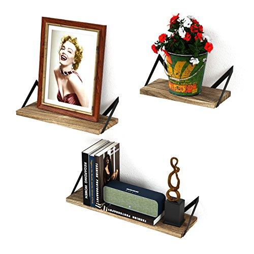 RooLee Wandregal Schweberegal Hängeregal Hängeboards 3er Set Wandboards Landhausstil, retro, CD...