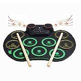Yajun Batería Electrónica Tambor Portátil Roll Up Drum Silicona Instrumento Musical Niño Bluetooth Educación Juguete Función De Grabación Principiante Entretenimiento Set