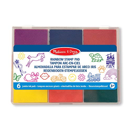 Melissa & Doug- Rainbow Cojín de Estampillas, Multicolor (11637)