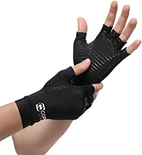 Best Copper Compression Arthritis Gloves - Guaranteed Highest Copper Content. Best Copper Glove for Carpal Tunnel, Computer Typing, and Everyday Support for Hands. Fit for Women and Men (1 Pair) Review