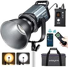 VILTROX 150W 2500K-8500K Bi-Color 16700lux@1m COB Continuous Lighting, Bowens Mount LED Video Film Lighting Studio Monolight Video Light, Link App & 2.4Ghz Remote DMX Built-in Preset CCT