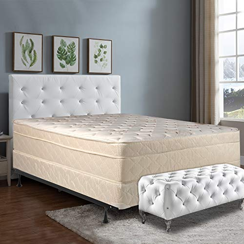 Lowest Prices! Mattress Comfort 13 Fully Assembled Orthopedic Firm Mattress and 4-inch Split Box Spr...