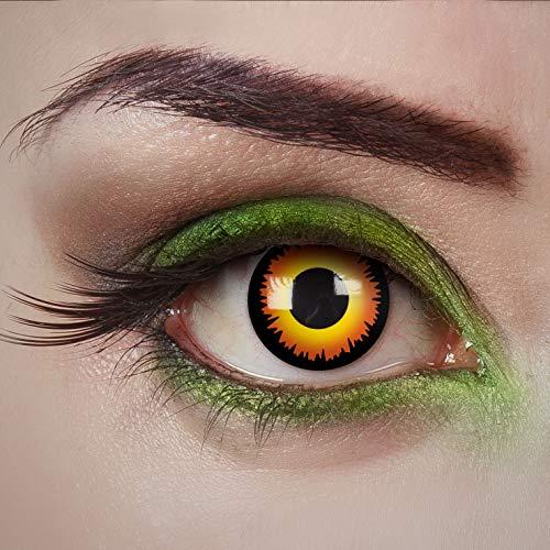 aricona Kontaktlinsen Tageslinsen - Wolf Eyes - Gelbe Kontaktlinsen