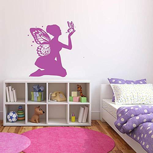 JHGJHGF Schmetterling Mädchen Wandtattoos für Mädchen Schlafzimmer Babyzimmer Hauptdekoration Kindergarten niedlichen Vinyl Wandaufkleber