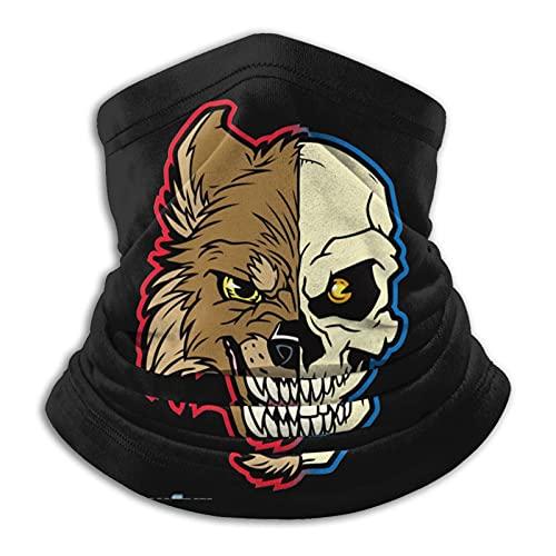 Smiley Acid Face Medio Lobo Medio Cráneo Videojuegos Bufanda caliente, a prueba de viento y polvo bufanda para la cara