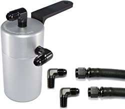 Elite Engineering Standard PCV Oil Catch Can & Hardware with Black AN Fittings for 2010+ Camaro LS3 (SS) and Z28 - CLEAR