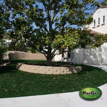 PreGra 15 Square Feet Synthetic Artificial Turf Grass Carpet Mat Backyard Landscaping Decorations BlueGrass