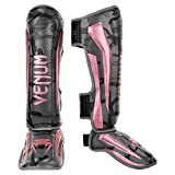 Venum Elite Shin Guards - Black/Pink Gold - M