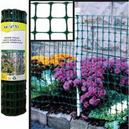 Tenax Garden Fence 25 ' L X 24' W Polyethylene 2' X 2' Mesh Green
