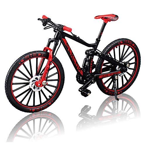 morytrade 自転車 おもちゃ MTB マウンテンバイク 模型 ダイキャスト 1/10 (ブラック/レッド)