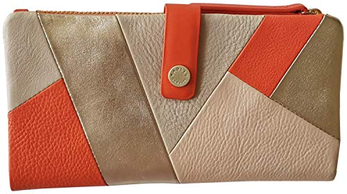 RADLEY 'Oxleas' Large Matinee Tab Purse Wallet in Orange Soft Leather