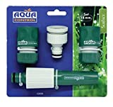 Aqua Control Set de Conectores automáticos de Manguera de 15 mm con Lanza Regulable, C2535