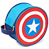 Marvel Captain America Shield Mens Wash Bag, Hanging Toiletry Bag, Marvel Gifts for Men