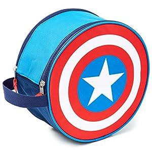Marvel Neceser Niño, Neceser Hombre del Escudo Capitan America, Neceser Viaje de Los Vengadores, Bolsa Aseo Niño…